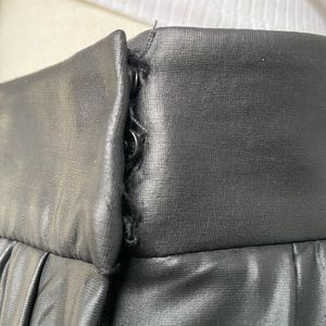 Zara pleated faux leather skirt